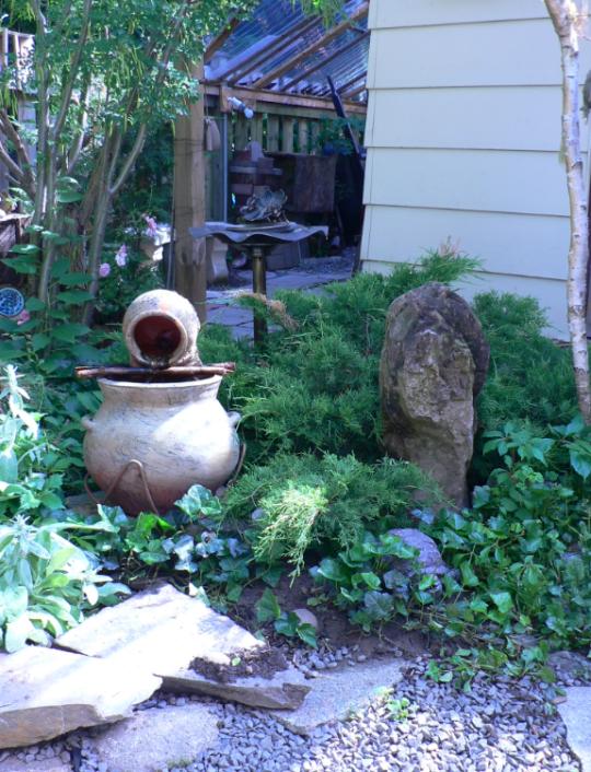 back yard 2006
