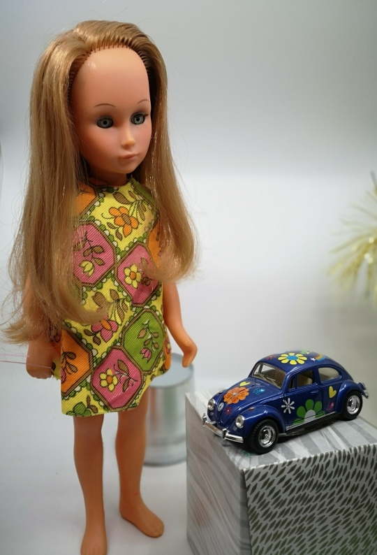 lost in 50s doll and beetle