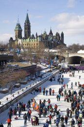 Rideau Canal skateway,Canada