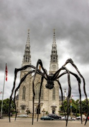 spider sculpture, downtown Ottawa